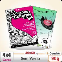 Cartazes 40×60 cm – Couch 90 g – 4×4 cores (COM VERSO)
