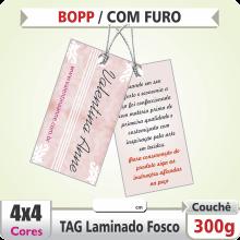TAG (98x43mm) – Laminado Fosco+Verniz – 4×4 cores (COM VERSO) – Furo 6 mm