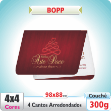 Carto Duplo (98x88mm) – 4 Cantos Arredondados – Fosco com ou sem Verniz – 4×4 cores (COM VERSO)