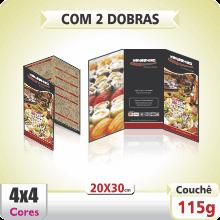 Folder 20×30 cm – 4×4 cores (COM VERSO) – 2 Dobras Paralelas