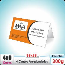 Carto Duplo (98x88mm) 4 Cantos Arredondados – Verniz UV Total Brilho – 4×0 cores (SEM VERSO)