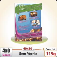 Cartazes 40×30 cm – Couch 115 g – 4×0 cores (SEM VERSO)