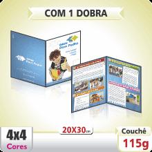 Folder 20×30 cm – 4×4 cores (COM VERSO) – 1 Dobra