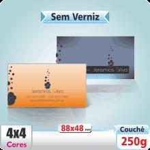 Carto de Visita SEM VERNIZ – 4×4 cores (COM VERSO)
