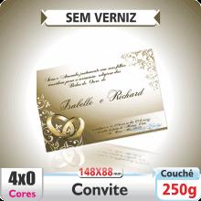 Convite 148x88mm – SEM VERNIZ