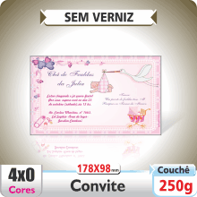 Convite 178x98mm – SEM VERNIZ