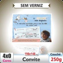 Convite 198x148mm – SEM VERNIZ