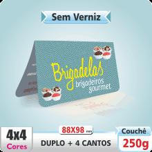 Carto Duplo (88x98mm) Sem Verniz – 4 Cantos Arredondados – 4×4 cores (COM VERSO)