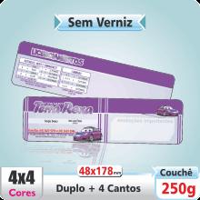 Carto Duplo (48x178mm) Sem Verniz – 4 Cantos Arredondados – 4×4 cores (COM VERSO)