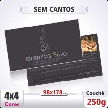 Postal Qudruplo (98x178mm) Sem Verniz – 4×4 cores (COM VERSO)