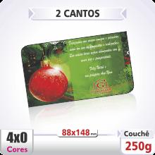 Postal Triplo (88x148mm) Sem Verniz – 2 Cantos Arredondados – 4×0 cores (SEM VERSO)