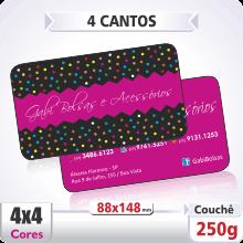 Postal Triplo (88x148mm) Sem Verniz – 4 Cantos Arredondados – 4×4 cores (COM VERSO)