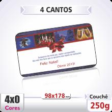 Postal Qudruplo (98x178mm) Sem Verniz – 4 Cantos Arredondados – 4×0 cores (SEM VERSO)