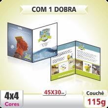 Folder 45×30 cm – 4×4 cores (COM VERSO) – 1 Dobra