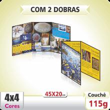 Folder 45×20 cm – 4×4 cores (COM VERSO) – 2 Dobras