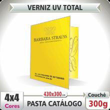 Pasta Catlogo (430x300mm) – Verniz UV Total Brilho – 4×4 cores (COM VERSO)