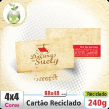 Carto de Visita em Papel Reciclado 4×4 cores COM VERSO