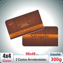 Carto de Visita c/ 2 Cantos Arredondados – Verniz UV Total Brilho – 4×4 cores (COM VERSO)